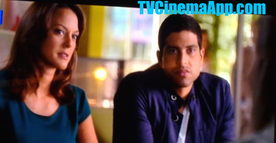 TVCinemaApp.com - CSI Miami: Eric Delko (Adam Rodriguez) with Natalia Boa Vista (Eva LaRue) questioning a suspect.