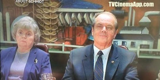TVCinemaApp - Film Narrative Form: Alexander Payne's About Schmidt, starring Jack Nicholson, Kathy Bates, Dermot Mulroney, Hope Davis, June Squibb, Len Cariou and Howard Hessman.