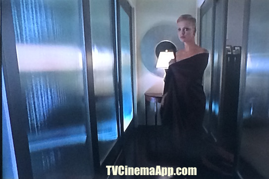 TVCinemaApp - Movie Production: Rand Ravich's The Astronaut's Wife, Charlize Theron on Nightgown worried about what has happened to her husband, Commander Spencer Armacost (Johnny Depp).