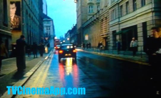 TVCinemaApp - Movie Production: Roman Polanski's The Ghost Writer, starred Ewan McGregor. Street view.