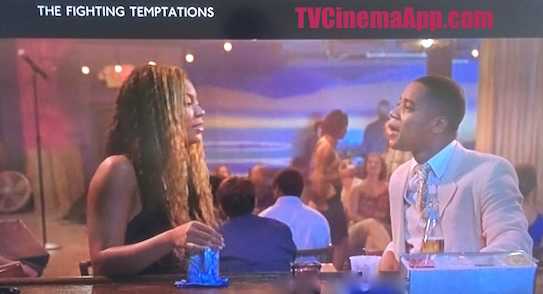 iWatchBestTVCinemaApp Musical Film: Jonathan Lynn's The Fighting Temptations, Beyonce Knowles chatting with Cuba Gooding.