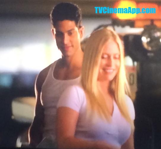 iWatchBestTVCinemaApp Prior CSI Miami: Eric Delko (Adam Rodriguez) flirting with Calleigh Duquesne (Emily Procter).