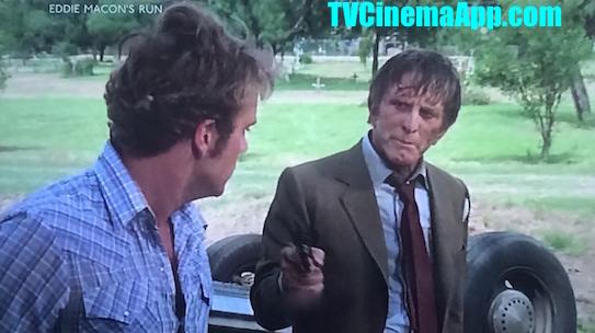 TV Cinema World: Jeff Kanew's Eddie Macon's Run, starring Kirk Douglas, John Schneider, Lee Purcell, Lisa Dunsheath, Leah Ayres, Tom Noonan, J. C. Quinn, Gil Rogers, Jay O. Sanders, Todd Allen.