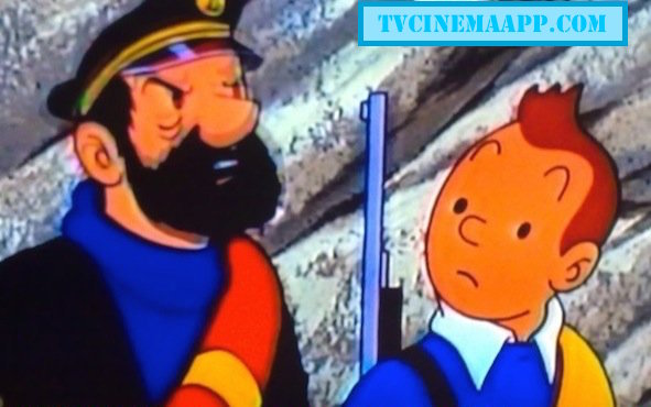 TVCinemaApp.com: Animated Film: Tintin and Captain Haddock in the animation cartoon film, Adventures of TinTin.
