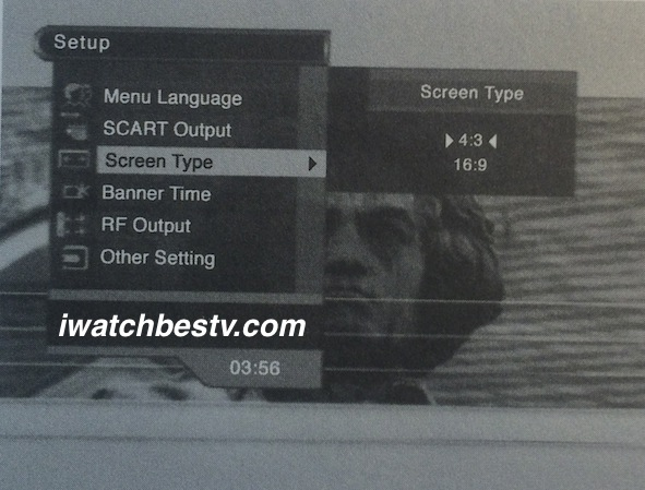 Direct Satellite TV: Displaying The Screen Type on the Main Menu on Screen.