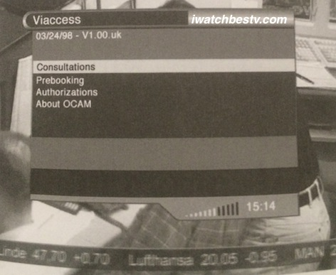 Satellite TV Installation: The Viaccess Submenu in the Main Menu Operation.