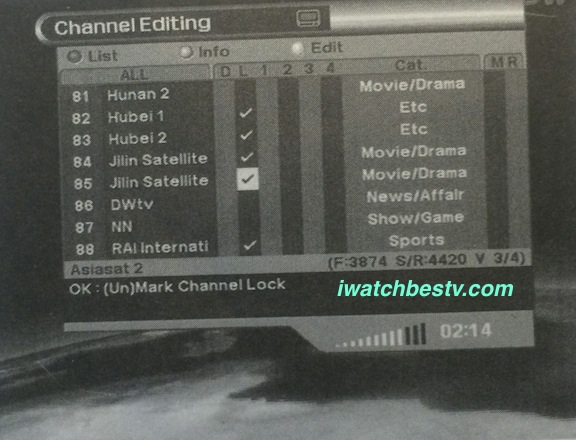 Streaming Satellite TV: Channels Lock.