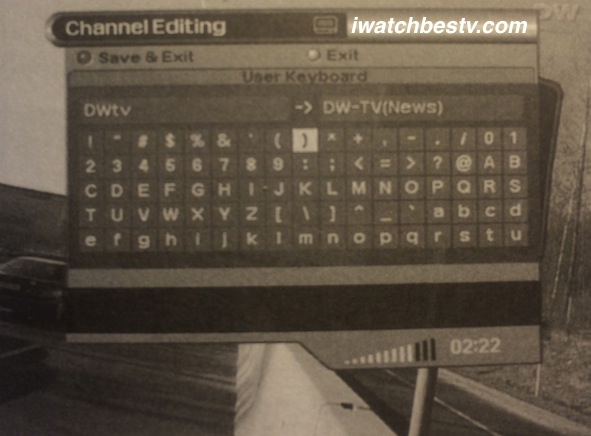 Watch Satellite TV: Rename Channels User Keyboard - Change Channels Names.