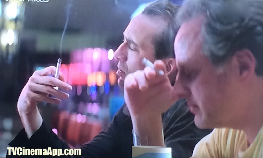 TV Cinema Gallery: Brad Silberling's City of Angels, angel Seth (Nicolas Cage) experimenting the wonderful life of humans, enjoying working, getting married and outing, smoking and drinking in bars.