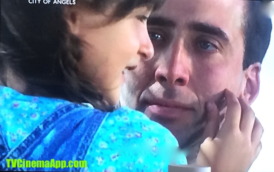 TV Cinema Gallery: Brad Silberling's City of Angels, Nicolas Cage, angel Seth and Dennis Franz, Nathaniel Messigner's little daughter with her telling him his skin is so soft.