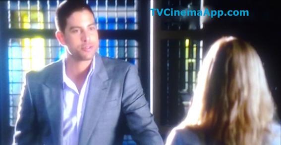 TVCinemaApp.com - Film Editor: CSI Miami, Adam Rodriguez (detective Eric Delko) and Emily Procter (detective Calleigh Duquesne)