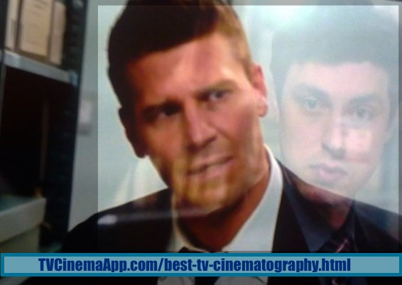 TVCinemaApp.com - Best TV Cinematography: David Boreanaz as Seeley Booth and John Francis Daley as Dr. Lance Sweets on Bones.