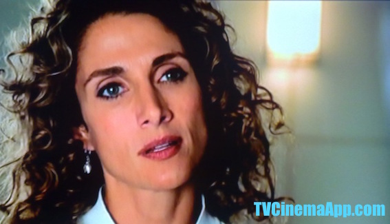 TVCinemaApp.com - Best TV Cinematography: Melina Eleni Kanakaredes as detective Stella Bonasera in the criminal mind investigation, CSI NY.