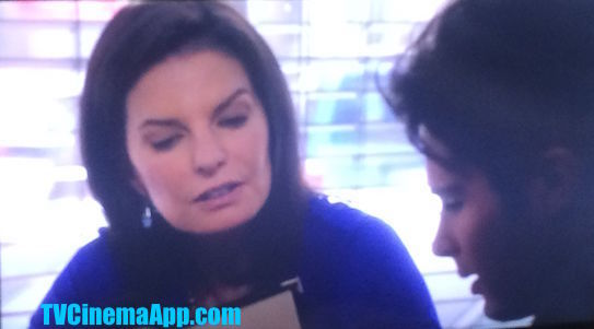I Watch Best TV Cinema App - The Movie: CSI NY Season 7 Episode 18, Identity Crisis, Sela Ward as detective Jo Danville and  her son in the TV serial played by Cody Long.