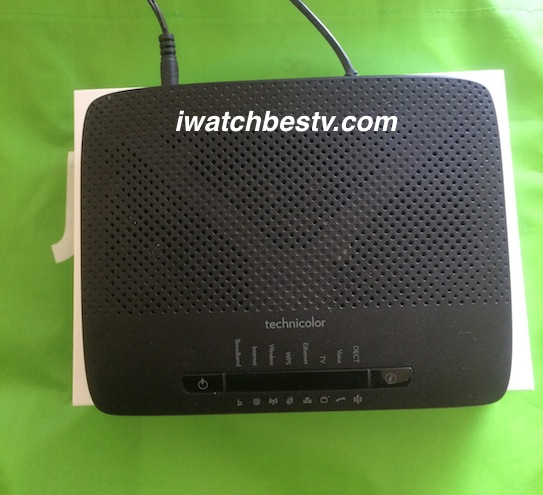 Internet TV Channels: Set Top Box, Technicolor Internet and TV Channels Router.