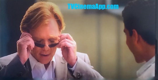 TVCinemaApp.com - CSI: Adam Rodriguez, Eric Delko Asking David Caruso, Horatio Caine to Put the Eyeglasses on to Look Like a Detective. Horatio Caine Came with his Favorite Expression