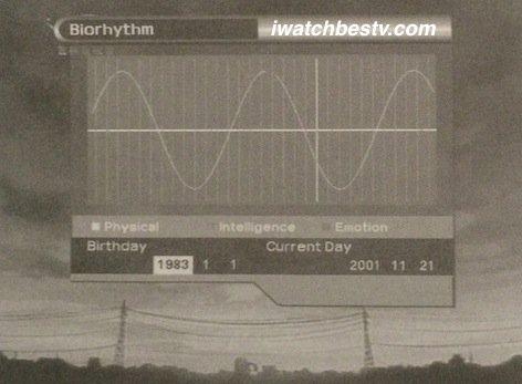 Satellite TV Installation: The Bio Rhythm in the Utility in the Main Menu Operation.