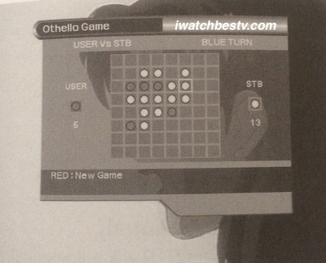 Satellite TV Installation: The Othello Game in the Utility in the Main Menu Operation.