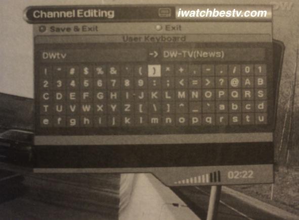 Watch Satellite TV: Rename Channels User Keyboard - Change Channels Names.