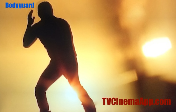 Action Adventure: A Silhouette from Bodyguard, Action Indian Film.